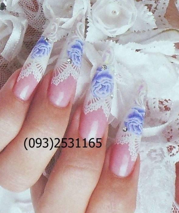 Свадебный дизайн ногтей биозавивка