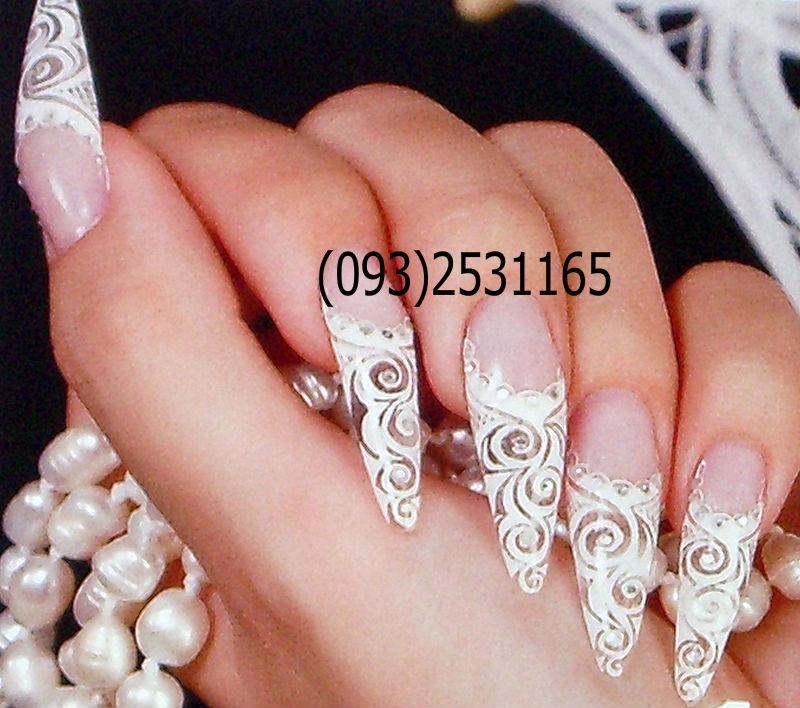 Рисунок свадебный на ногтях