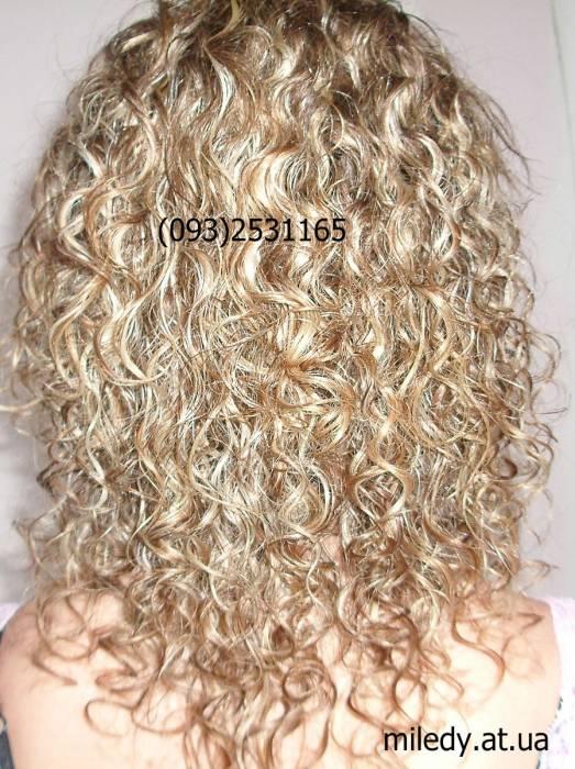 Биозавивка на мелированные волосы