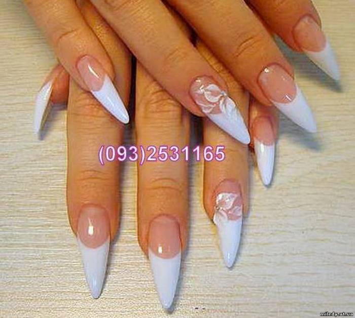 Наращивание ногтей свадебный дизайн
