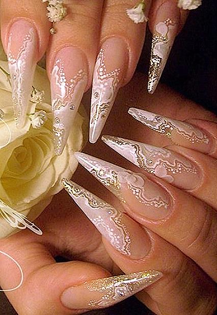 рисунки на ногтях карандашом: